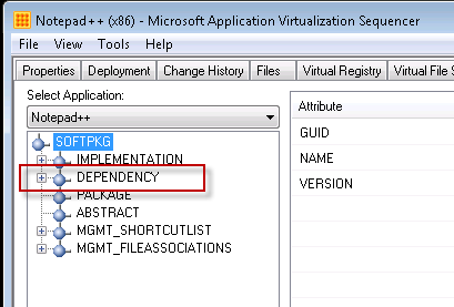DEPENDENCY element in OSD tab