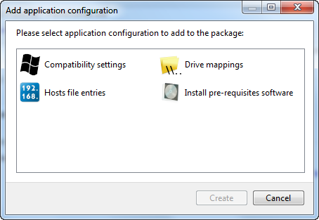 Application configuration scripts