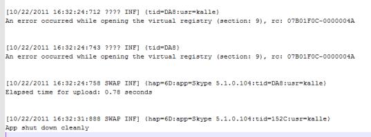 Script invocation missing from App-V Client log file