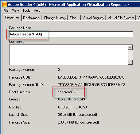 Non-renamed package name (Sequencer 4.6 SP1 HF3)