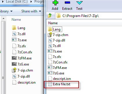 Merged package sees additional virtualized file in existing directory