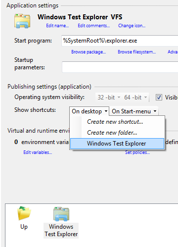 Adding Windows Explorer as virtual application