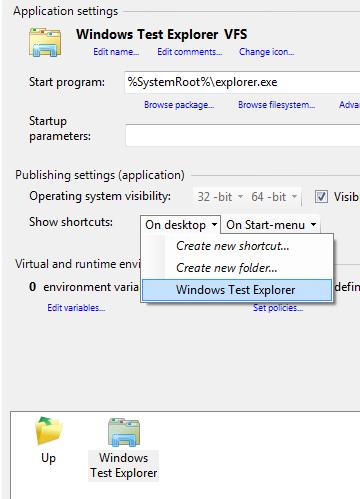 Adding Windows Explorer as virtual application