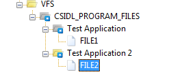 VFS configuration for test package