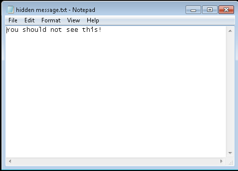 Virtual Notepad opens a file that it should not see