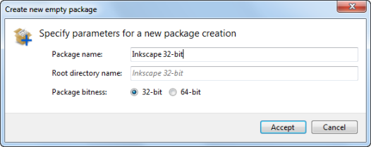 Customized package name for Inkscape App-V package