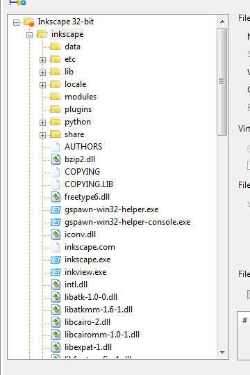 Imported directory structure inside App-V package's files