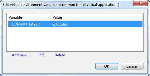 Common environment variable listing at the package level