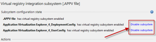 Virtual registry subsystems enabled