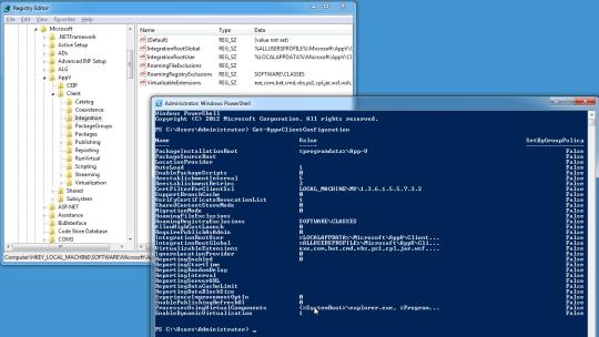 App-V 5 Client Registry entries and Get-AppVClientConfiguration